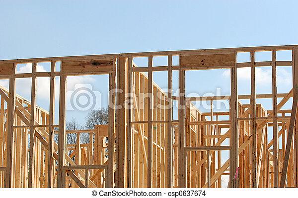 apartment framing csp0637674 - Wood Framing