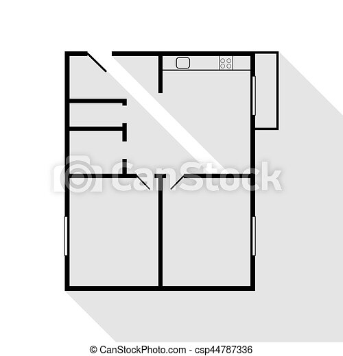 Apartment house floor plans. black icon with flat style shadow ... on construction icons, workshop icons, drafting icons, design icons, land icons, fireplace icons, farm icons, architecture icons, drawing icons, head icons, study icons, foundation icons, room icons, builder icons, remodeling icons, human icons, london icons, housing icons, household icons, architectural icons,