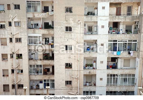Apartment house in Benidorm, Spain - csp0987709