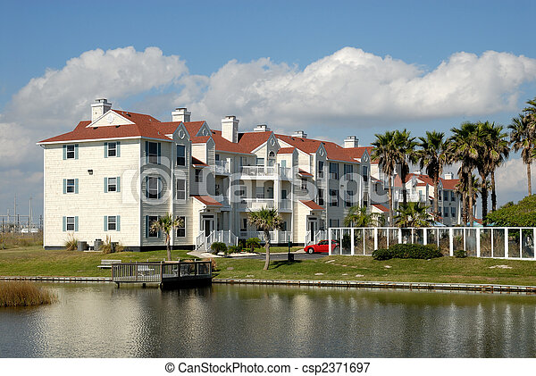 Apartment house in the southern United States - csp2371697