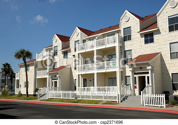 Apartment house in the southern United States - csp2371696