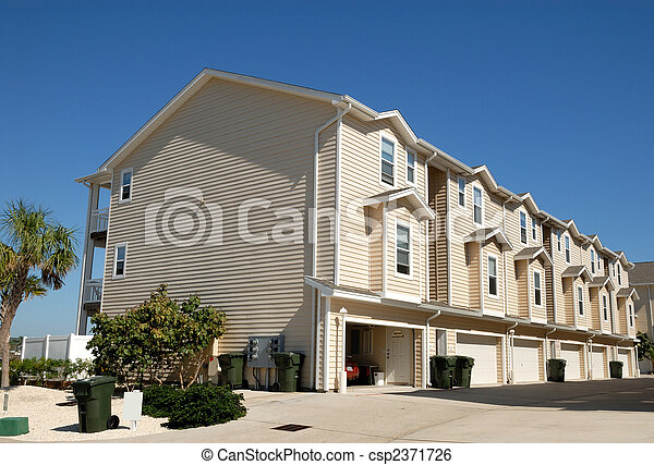 Apartment house in the southern United States - csp2371726