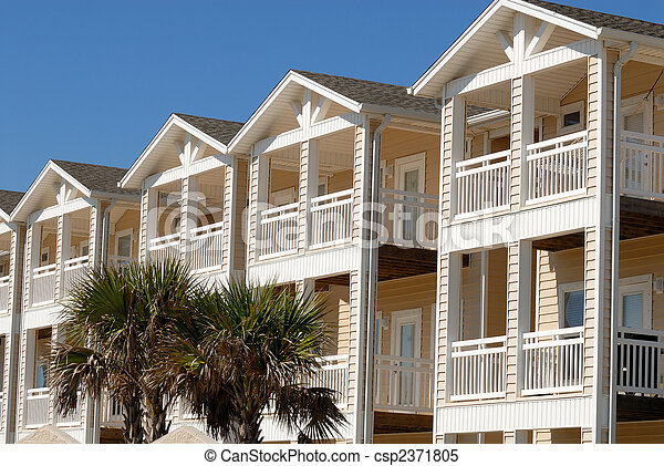 Apartment house in the southern United States - csp2371805