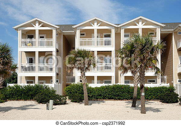 Apartment house in the southern United States - csp2371992