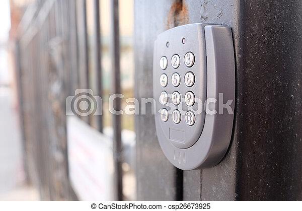 apartment security lock - csp26673925