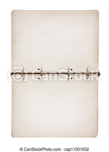 aperto, bianco, blocco note, isolato, vuoto - csp11001632
