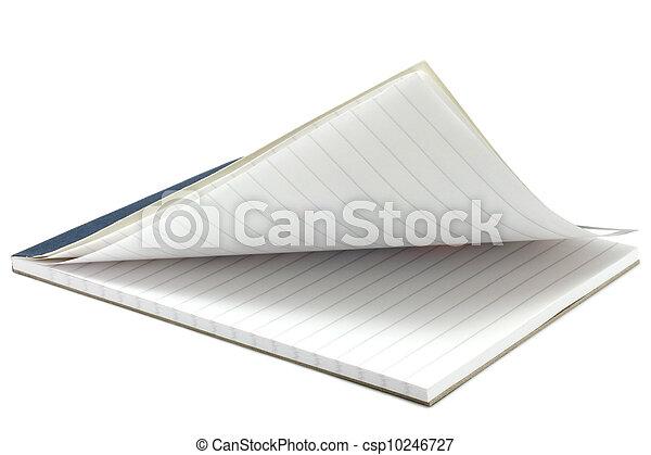 aperto, blocco note - csp10246727