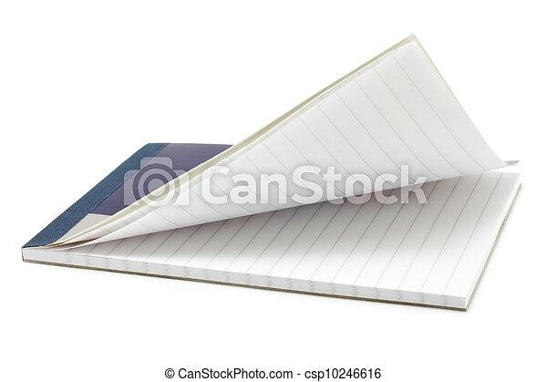 aperto, blocco note, tavola - csp10246616