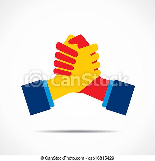 aperto mão, ícone - csp16815429