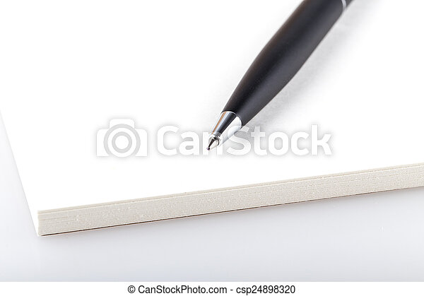 aperto, penna, blocco note - csp24898320