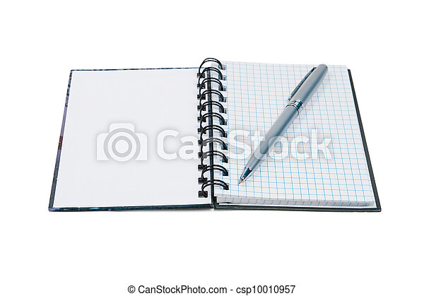aperto, penna, blocco note - csp10010957