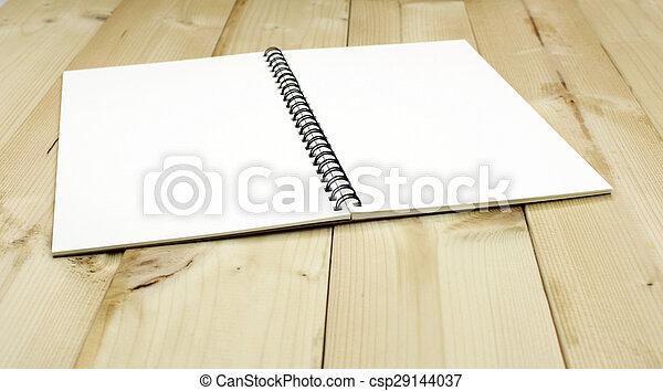 aperto, tavola, quaderno - csp29144037