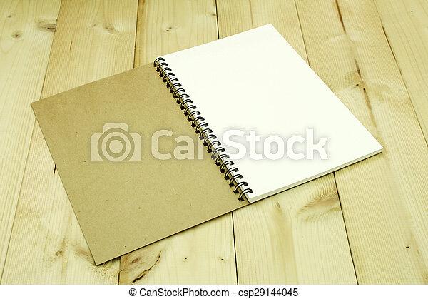 aperto, tavola, quaderno - csp29144045