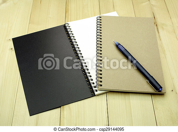 aperto, tavola, quaderno - csp29144095