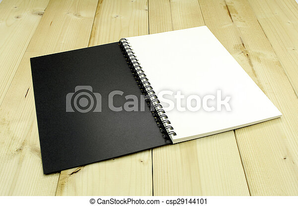 aperto, tavola, quaderno - csp29144101