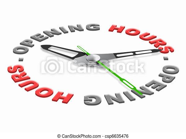 Horas de apertura - csp6635476