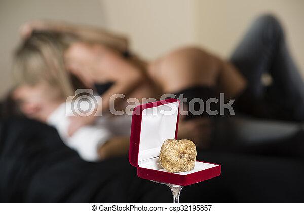 Aphrodisiac white truffle of Piedmont Italy - csp32195857