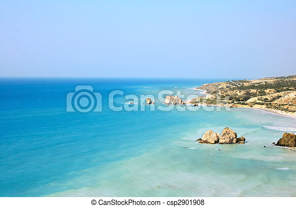 Aphrodite\'s legendary birthplace in Paphos,Cyprus. - csp2901908