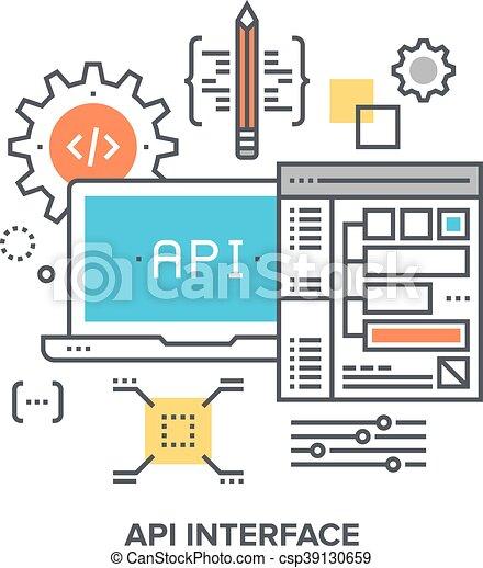 api interface concept vector illustration of api interface flat