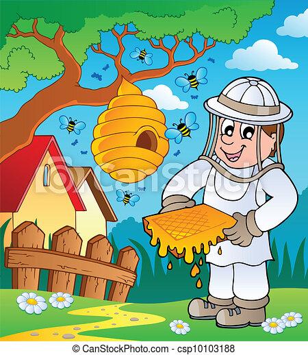apiculteur dessin