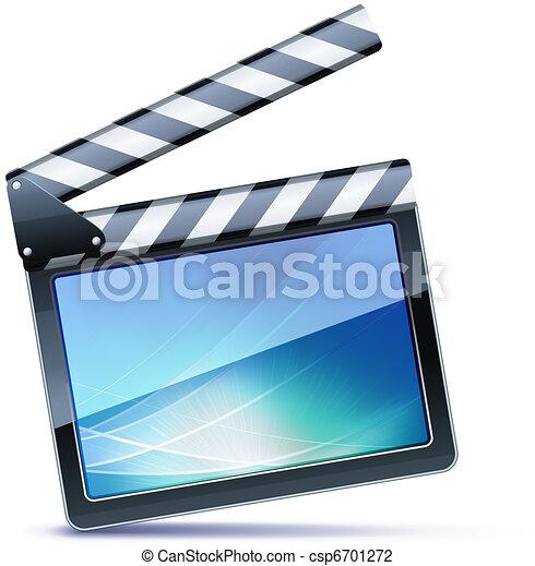 aplaudidor, filme, tábua - csp6701272