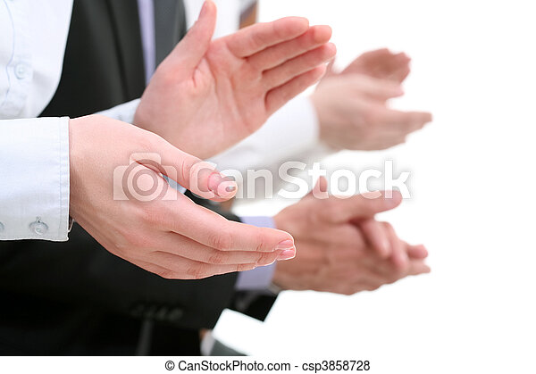 aplaudindo, mãos - csp3858728