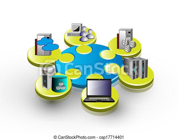aplicação, integração, empresa - csp17714401