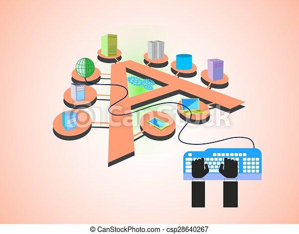 aplicação, integração, empresa - csp28640267