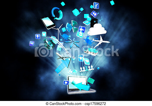 aplicações, computador - csp17596272