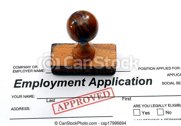 Solicitud de empleo, aprobada - csp17996694