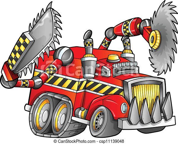 apocalyptique, vecteur, camion, véhicule - csp11139048