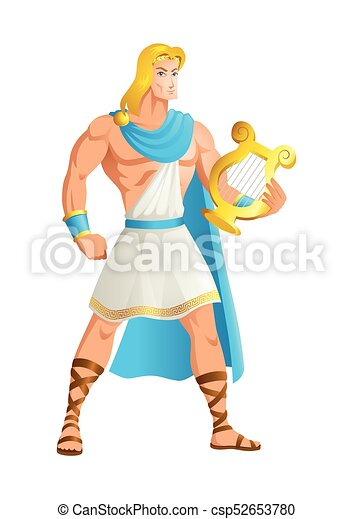 Apollo the God of music - csp52653780