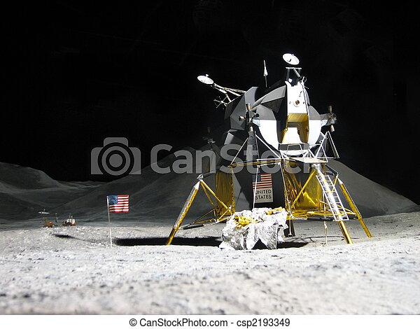 Aterrizaje lunar, apolo 11 - csp2193349