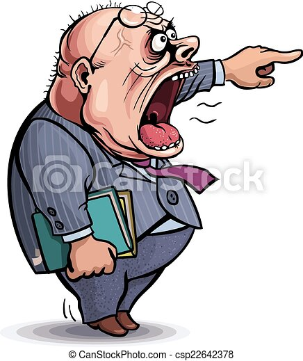 apontar, boss., homem, gritando, zangado, saída - csp22642378