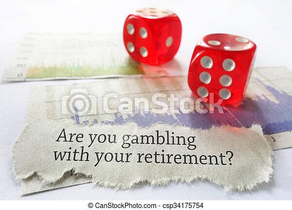 aposentadoria, conceito, risco - csp34175754