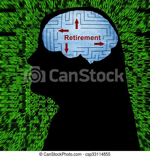 aposentadoria, mente - csp33114855