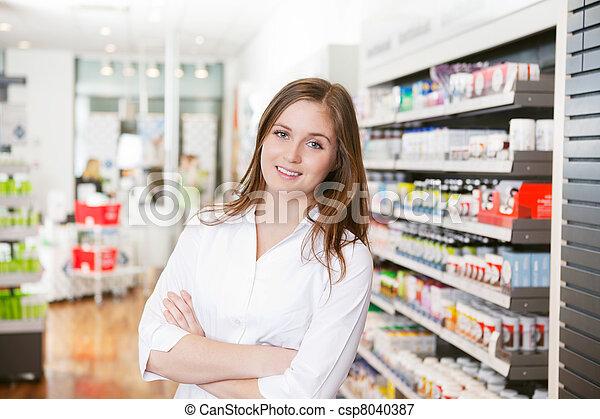 apoteker, kvindelig, butik, apotek - csp8040387