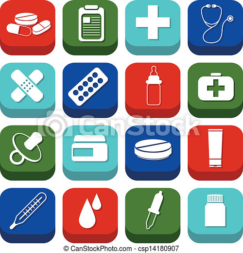 Pharmazeutische Ikonen - csp14180907