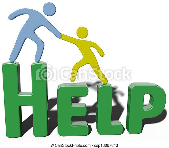 Los negocios ayudan a la gente - csp18087843