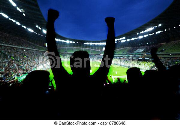 Fútbol, fans del fútbol apoyan a su equipo y celebran - csp16786648