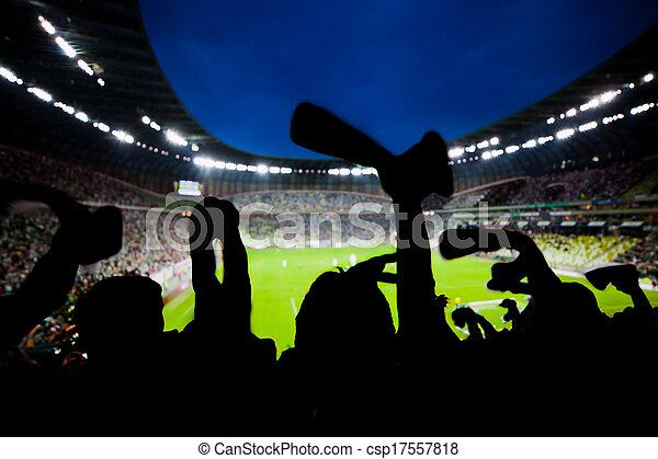 Fútbol, fans del fútbol apoyan a su equipo y celebran - csp17557818