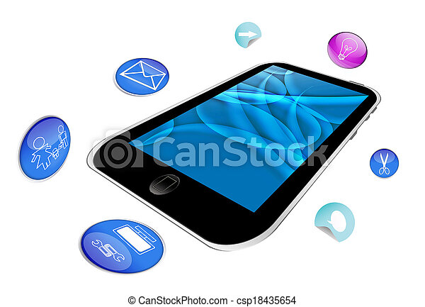 app and smart phone - csp18435654
