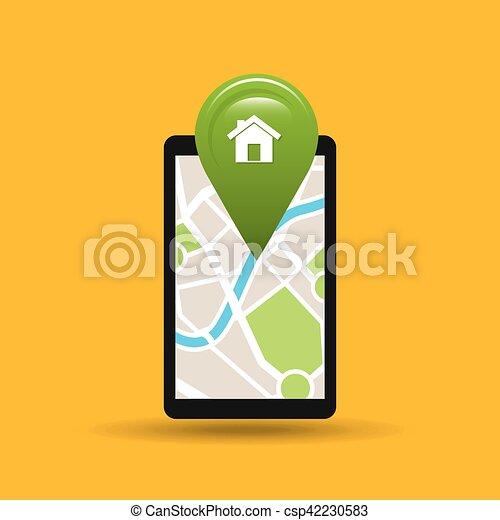 App, hält, hand, telefon haupt, schifffahrt. 10, app, hält ...