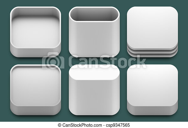 App icons for iphone and ipad applications. - csp9347565