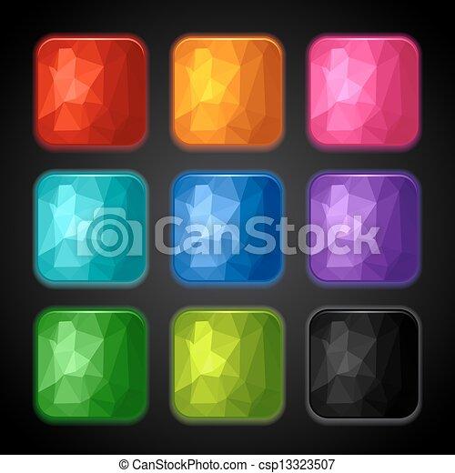 Geometrische Hintergründe für die App-Ikonen. - csp13323507
