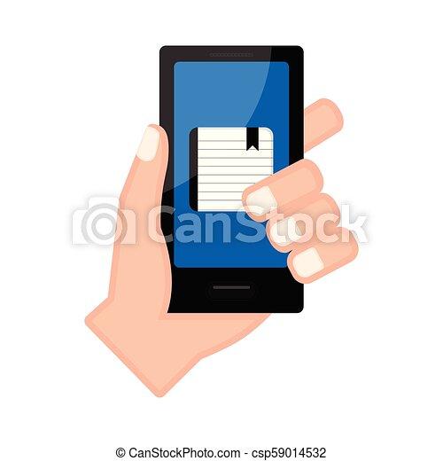 app, smartphone, 保有物, 議題, 手 - csp59014532