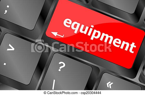 apparecchiatura, computer, parola, chiave, tastiera - csp20304444