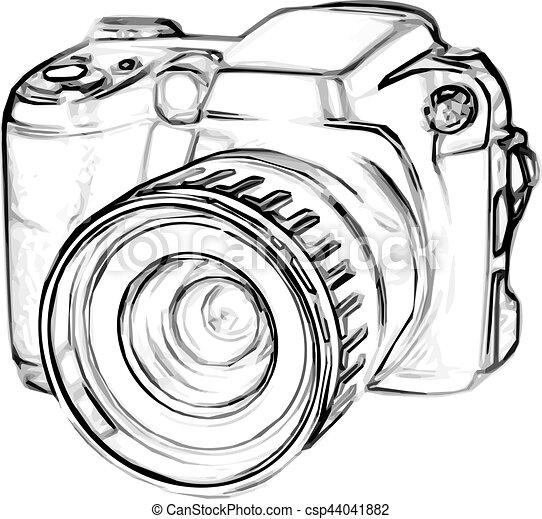 Extrem Vecteur de appareil photo, dessin, numérique - croquis, vieux  ZJ56