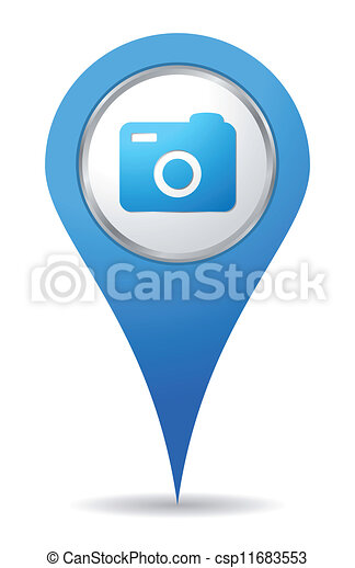 appareil photo, emplacement, icône - csp11683553