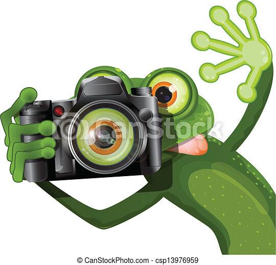 appareil photo, grenouille - csp13976959